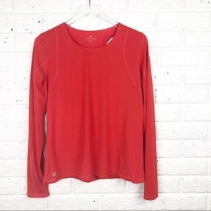 ATHLETA long sleeve top with open wrap back